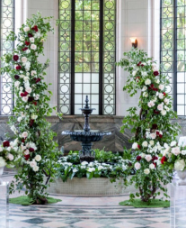 Modern open floral arch
