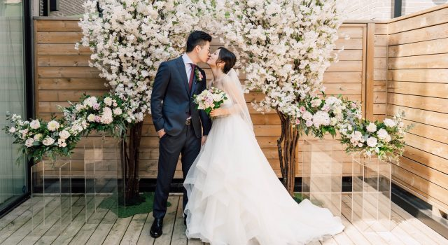 Micro Wedding in Toronto with Cherry Blossoms