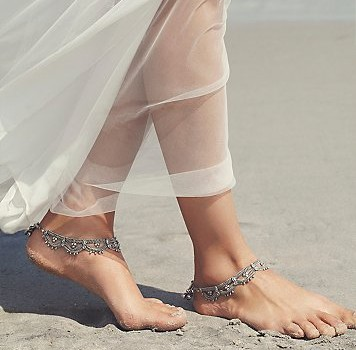 Free People Wedding Line - Raindrops Anklet Set