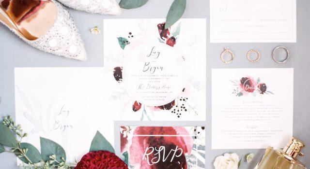Modern red garden inspired wedding at Doctor's House