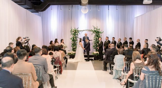 Garden inspired wedding at York Mills Gallery