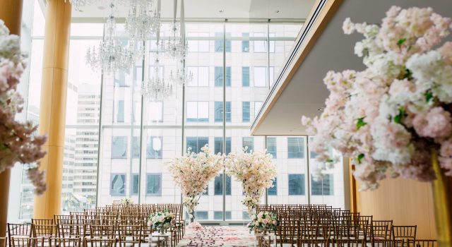Cherry blossom wedding at Shangri-La Hotel Toronto