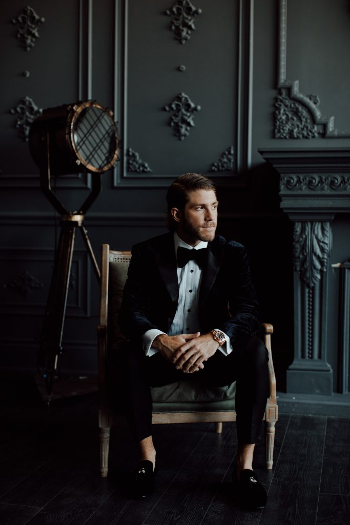Mike Hoffman wedding portrait.