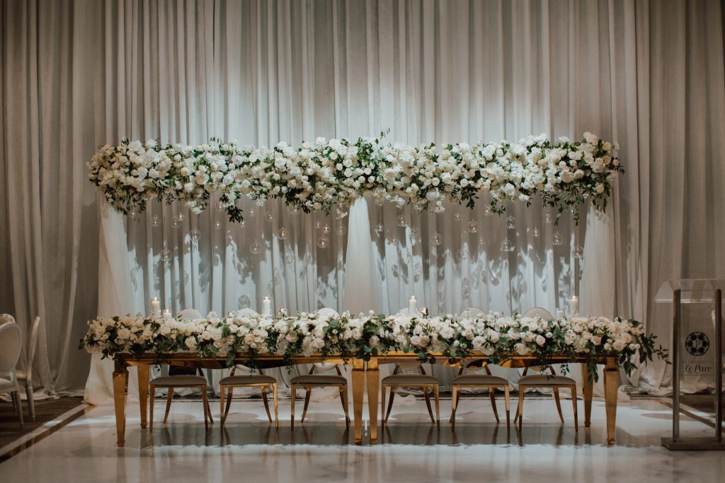A luxurious white wedding for NHL player Mike Hoffman wedding.