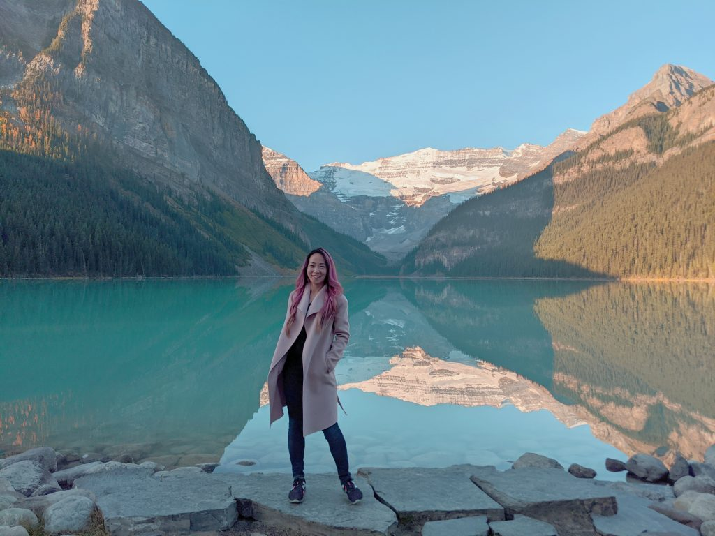 Lake Louise and Banff Honeymoon Guide -  Taking in the views of beautiful Lake Louise