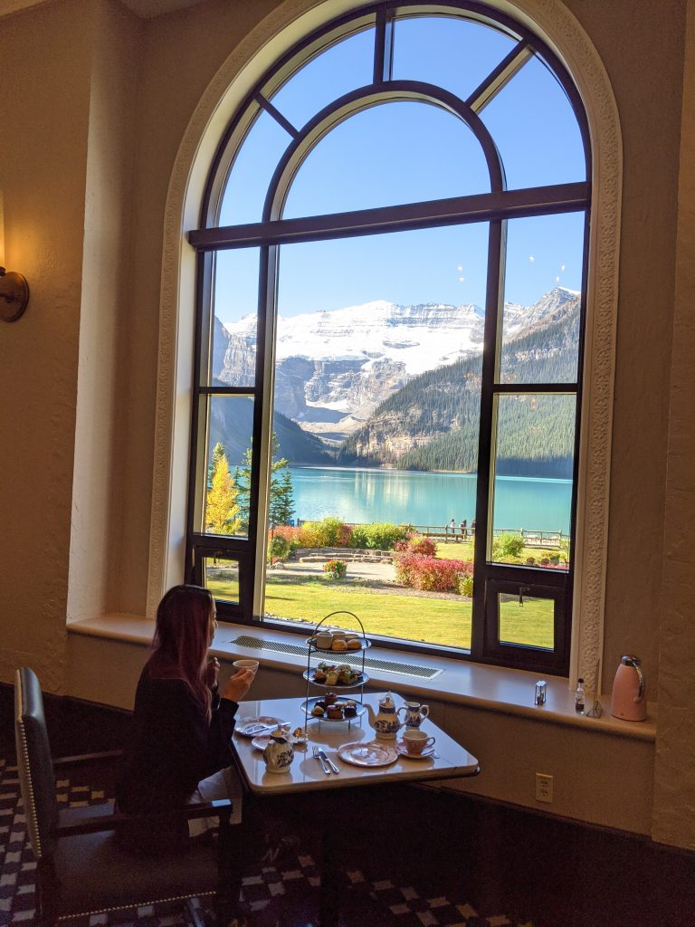 Lake Louise and Banff Honeymoon Guide - Fairmont Lake Louise afternoon tea at Fairview Lounge