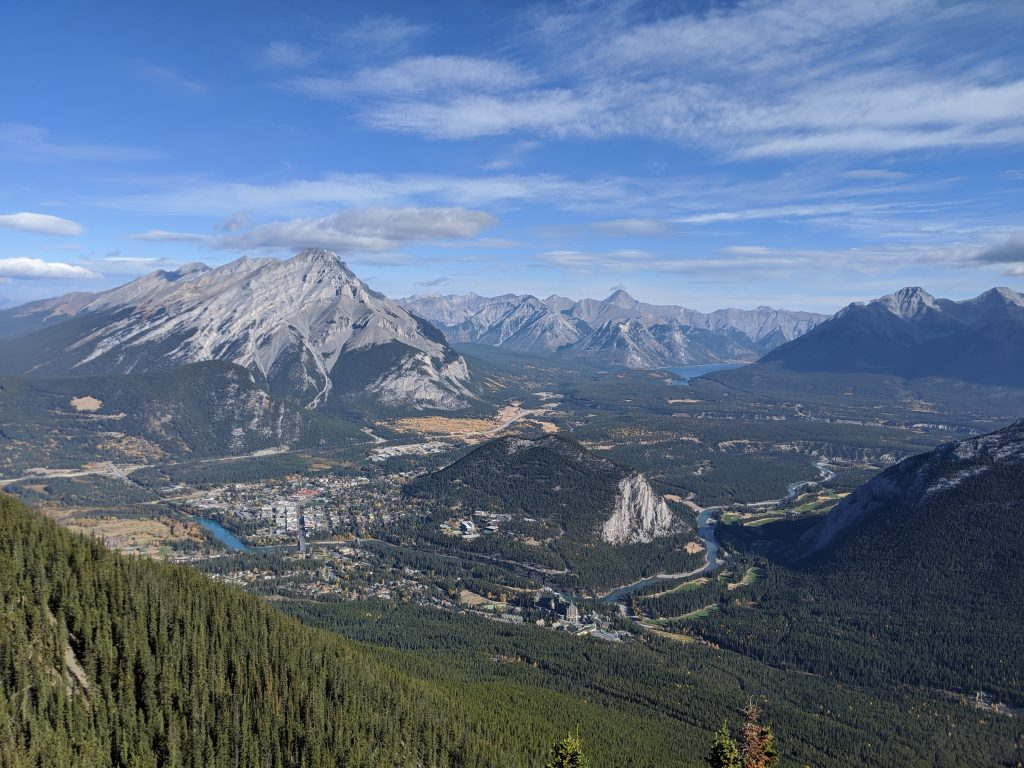 Lake Louise and Banff Honeymoon Guide - See Banff from above from the Banff gondola