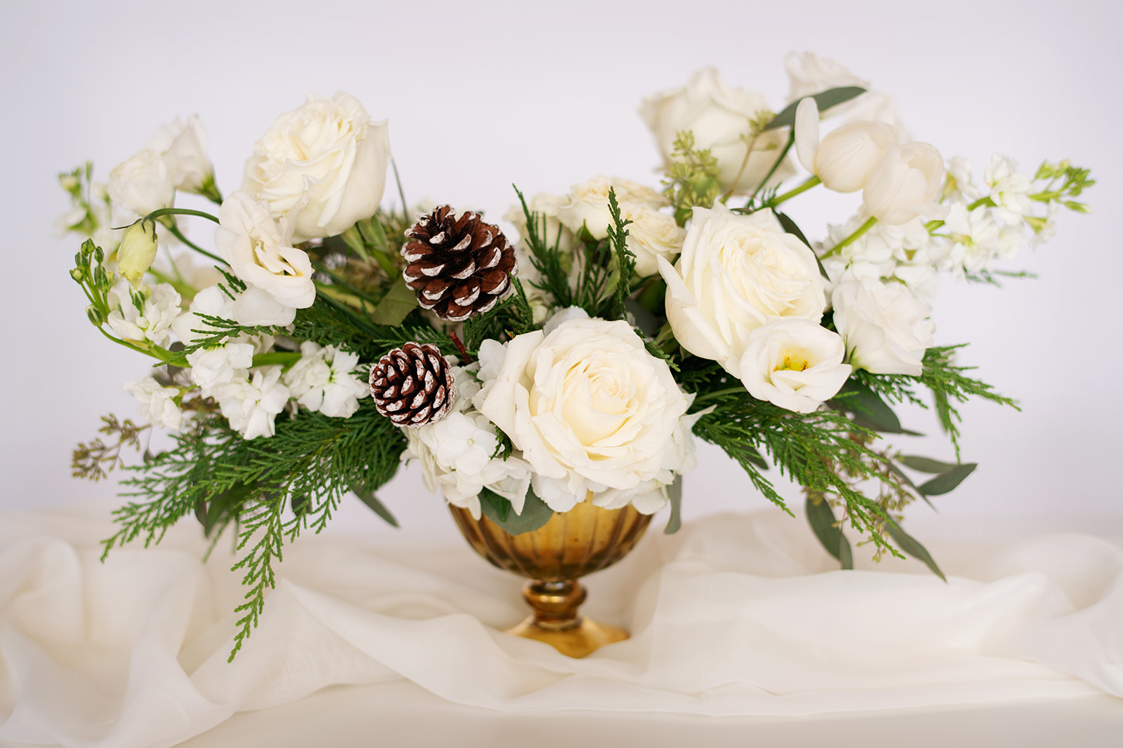 Rustic White Holiday Arrangement