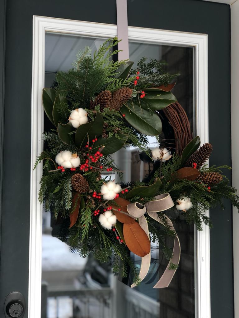 Rustic Outdoor Winter Wreath