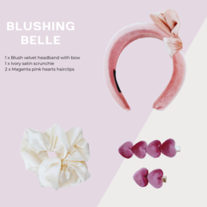 Blushing belle hair accessories kit