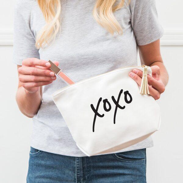 XOXO Canvas Makeup Bag