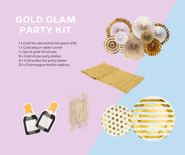 Gold glam party kit