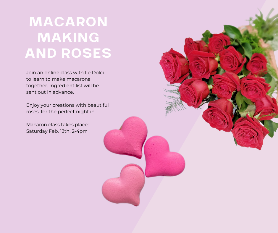 vday-Macarons and roses